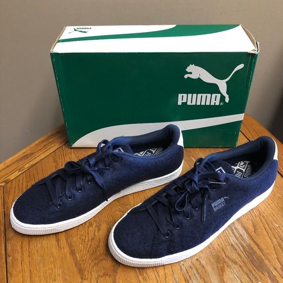 Puma Other - PUMA Men's Basket Classic Embossed Wool Sneakers